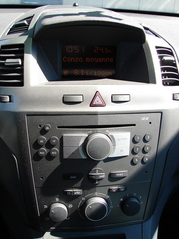 Reglage autoradio opel zafira